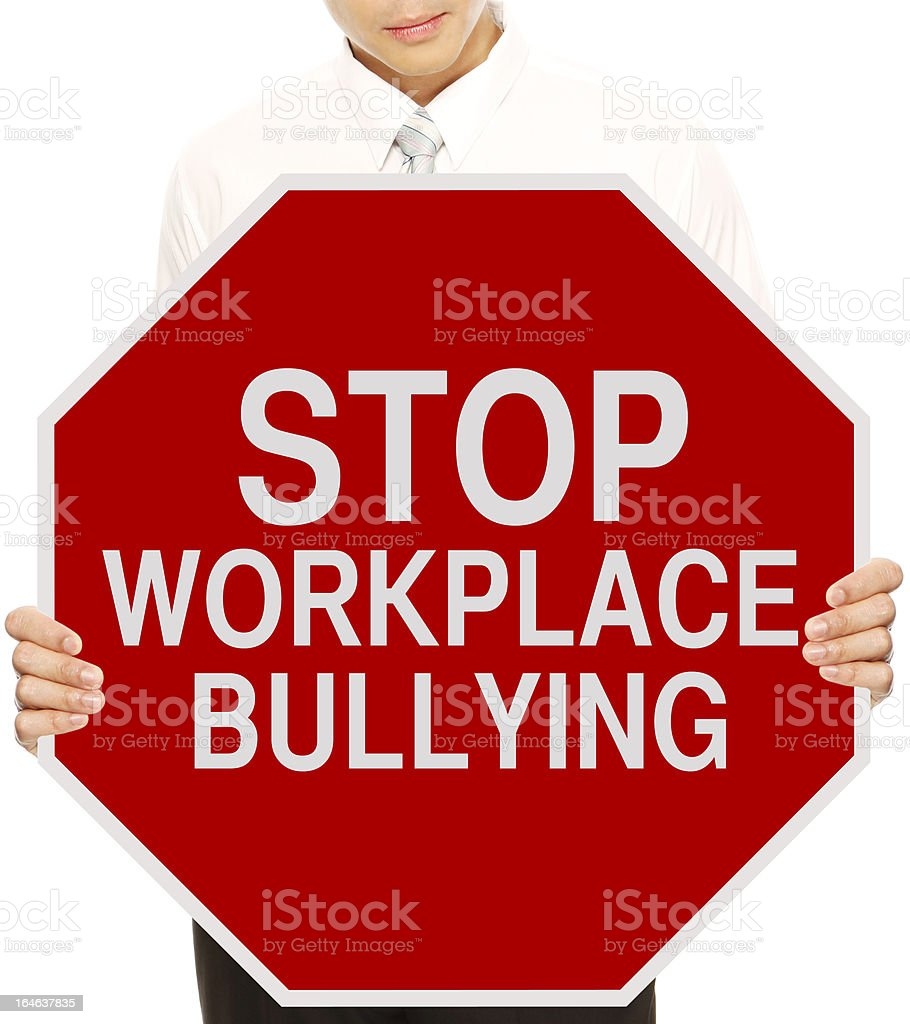 Stop Workplace Bullying stock photo