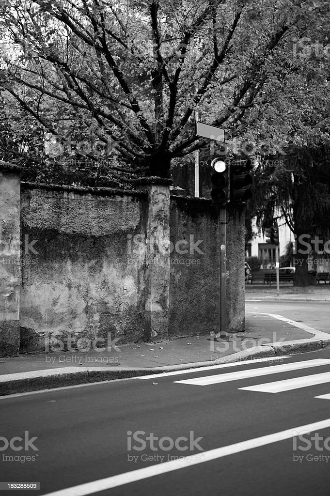 Stoplight. Black and White stock photo