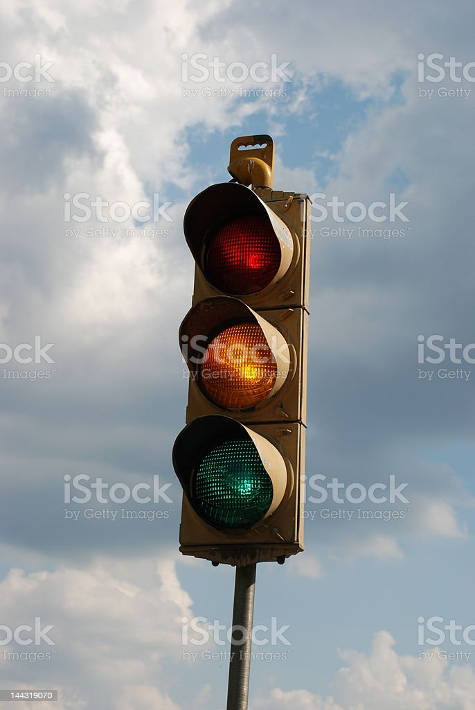 Stoplight stock photo