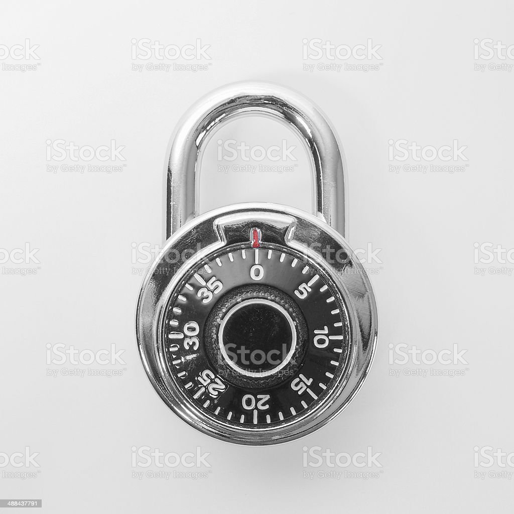 Stoplock padlock stock photo