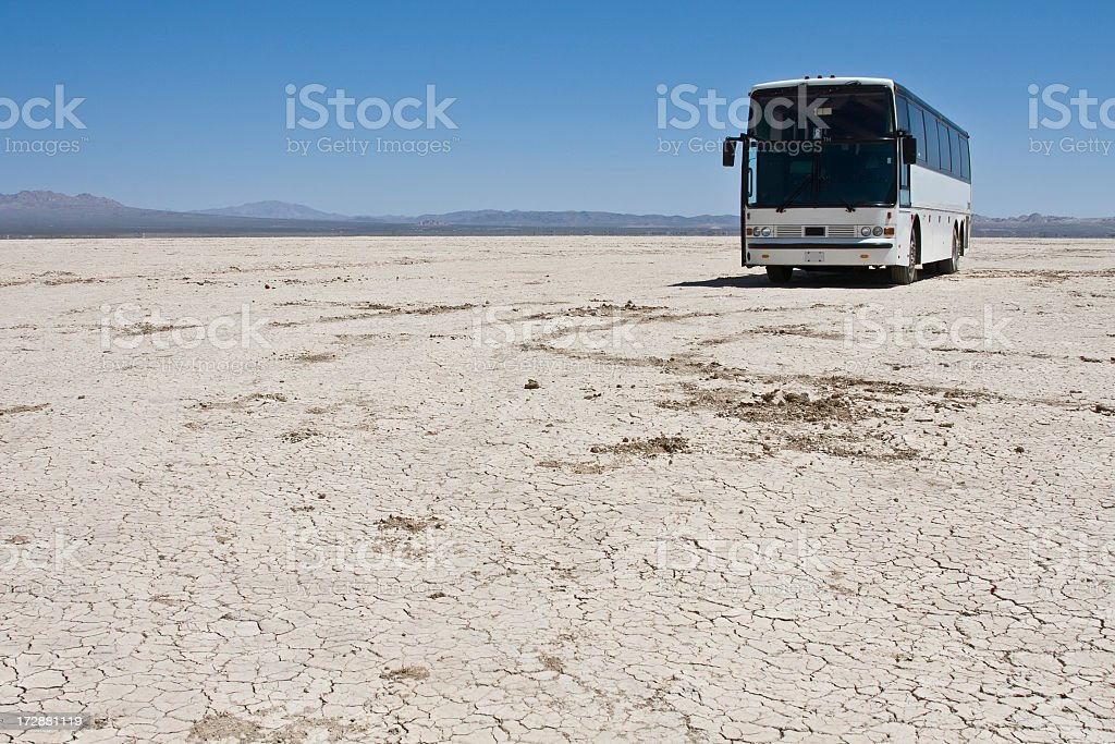 stopped in the middle of nowhere royalty-free stock photo