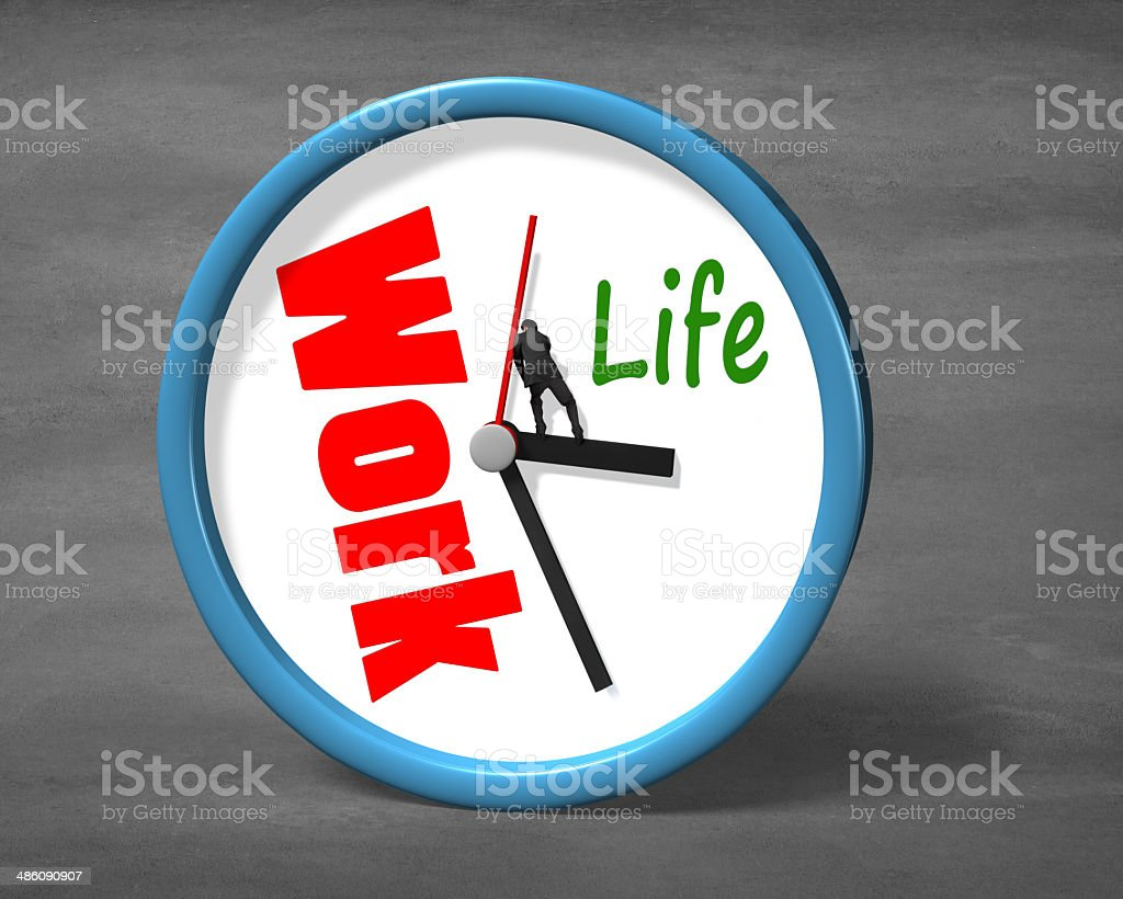 Stopping clock hand for life space stock photo