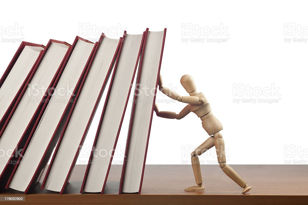 Stopping domino effect royalty-free stock photo