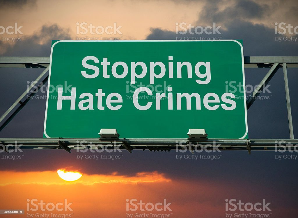 Stopping Hate Crimes stock photo