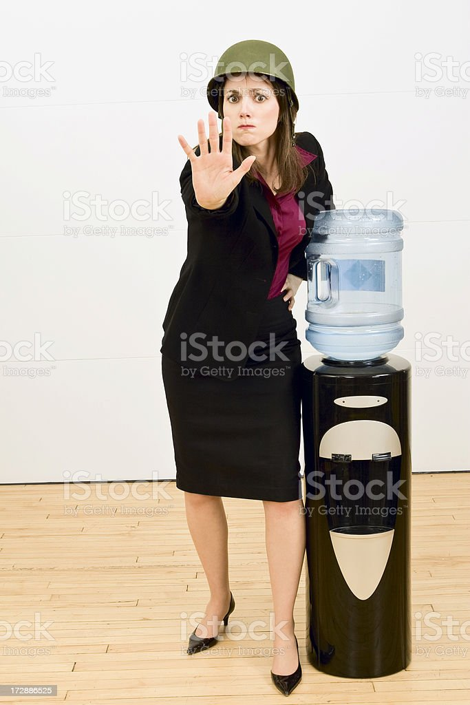 Stopping Office Gossip stock photo