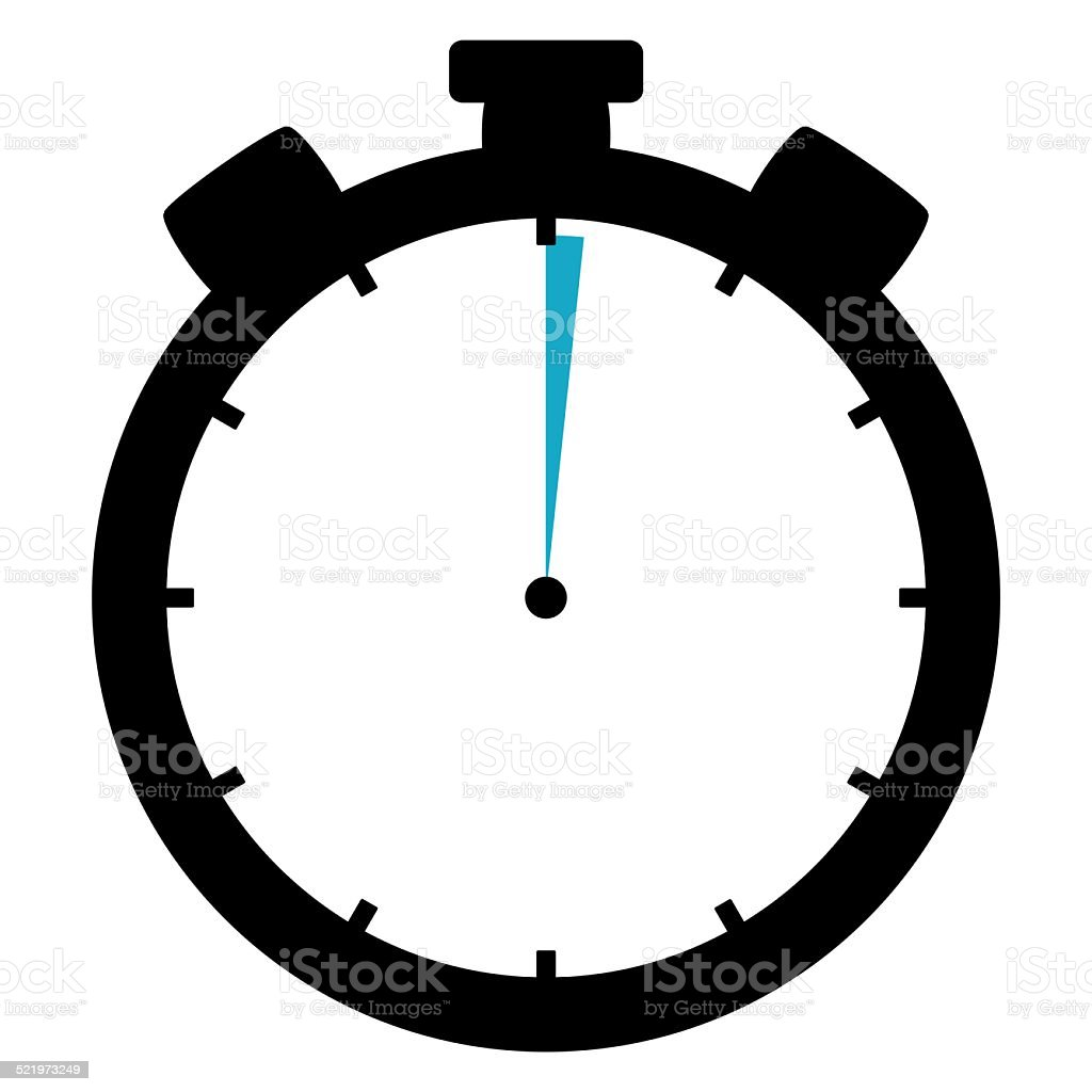 Stoppwatch Icon 1 Second 1 Minute stock photo