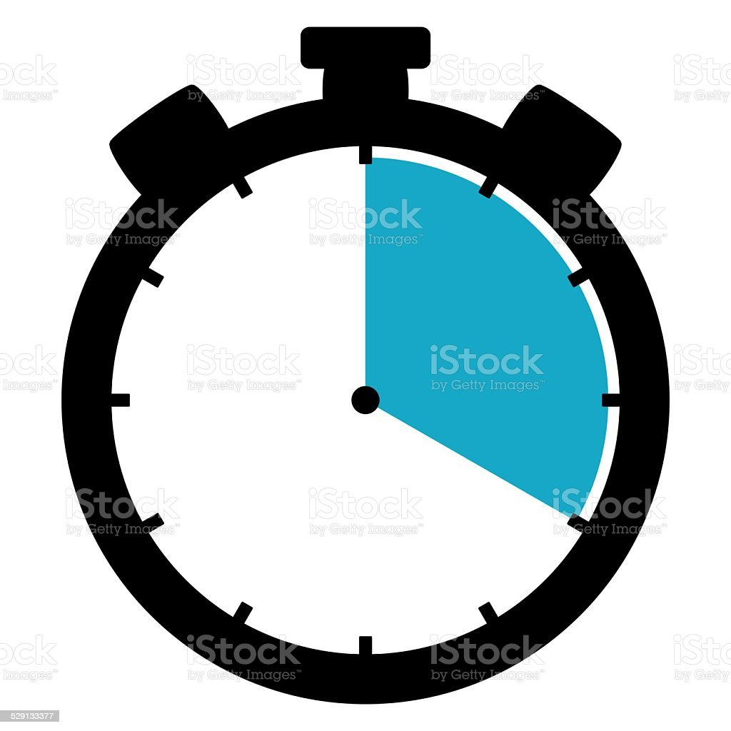 Stoppwatch icon: 20 Minutes 20 Seconds 4 hours stock photo