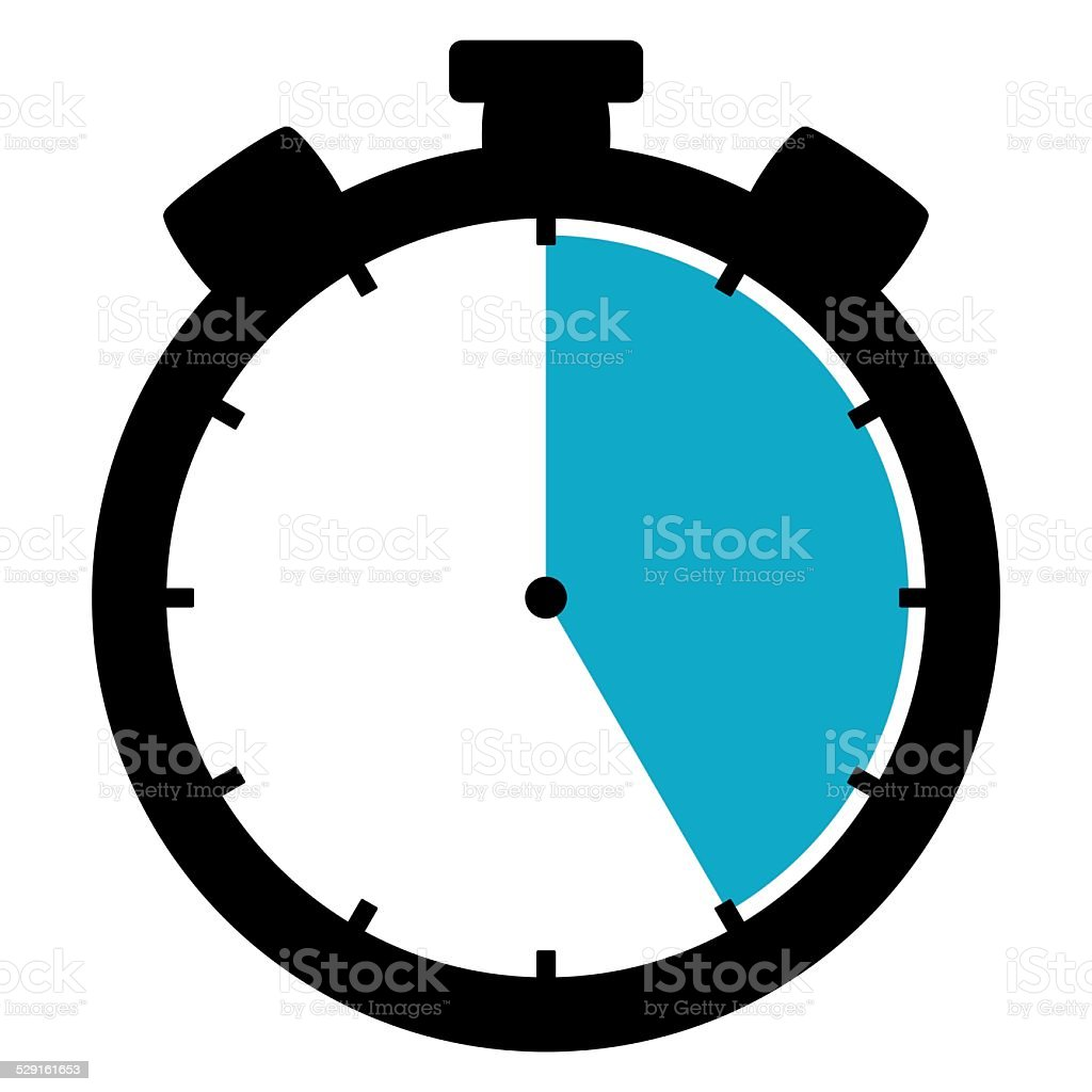 Stoppwatch icon: 25 Minutes 25 Seconds 5 hours stock photo