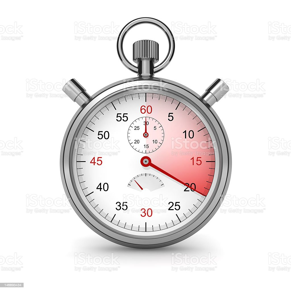 Stopwatch. 20 seconds. royalty-free stock photo