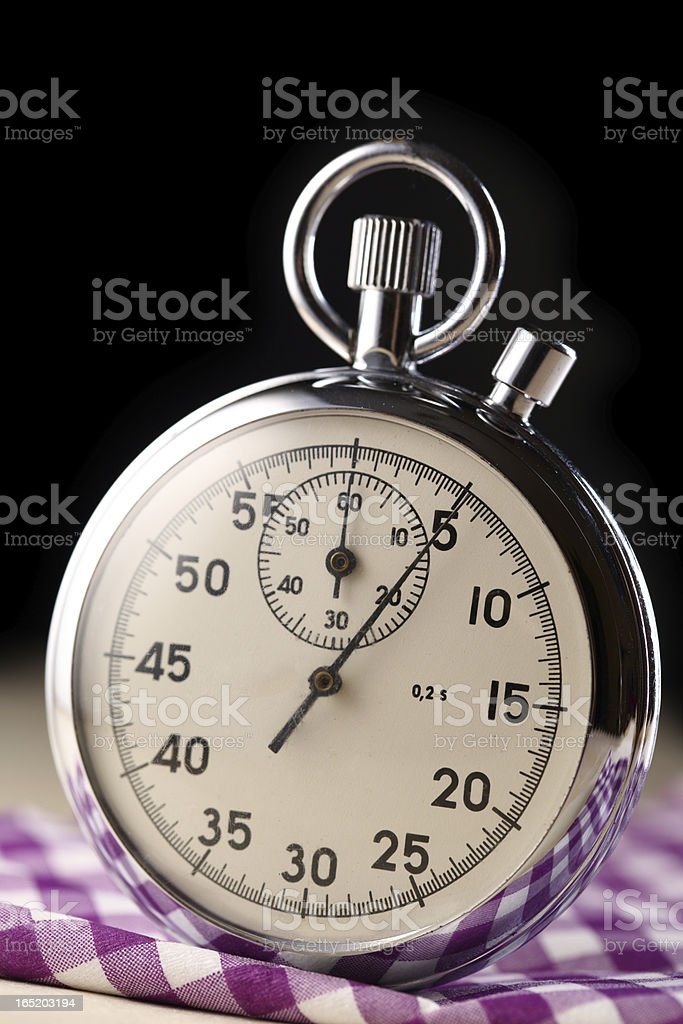 Stopwatch closeup on black background royalty-free stock photo