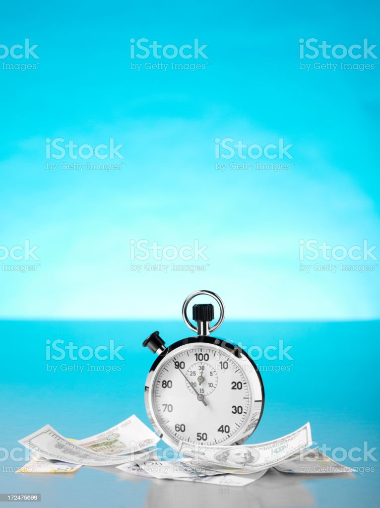 Stopwatch for Time and Money royalty-free stock photo
