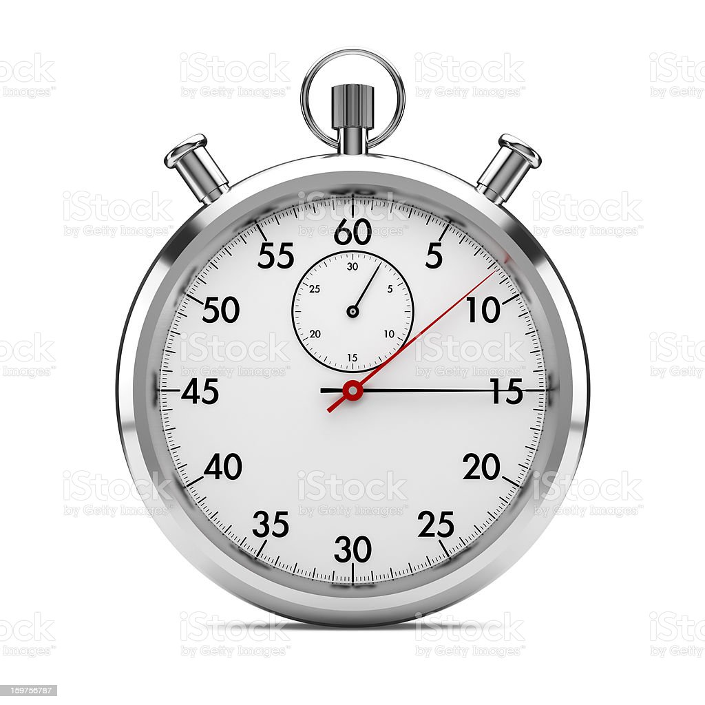 stopwatch front view royalty-free stock photo
