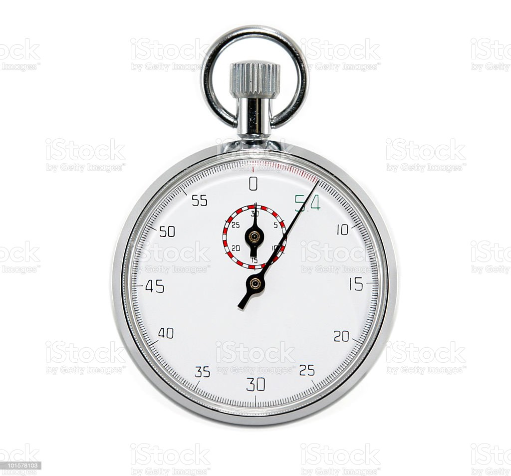 Stopwatch Isolated royalty-free stock photo