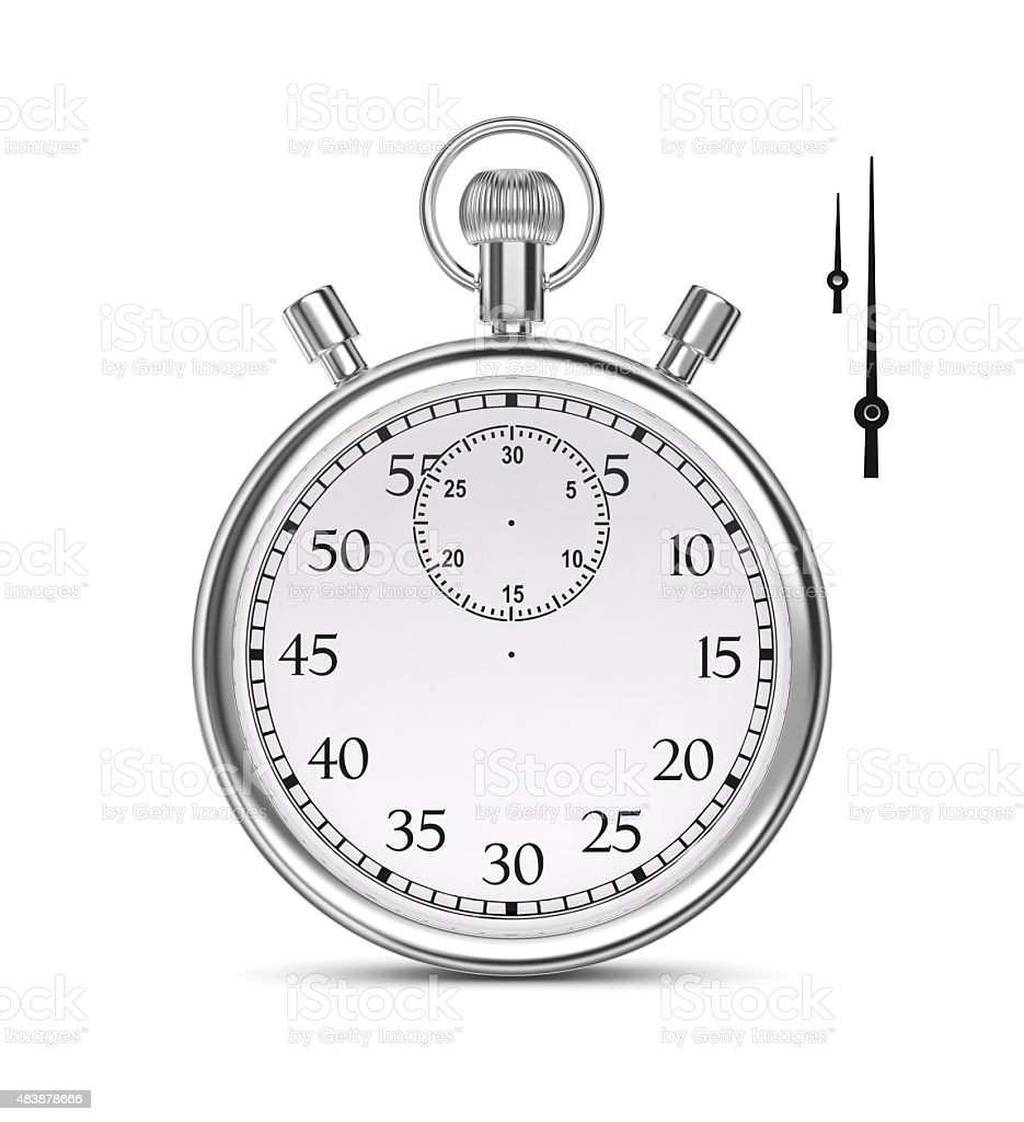 Stopwatch on a white background. royalty-free stock photo