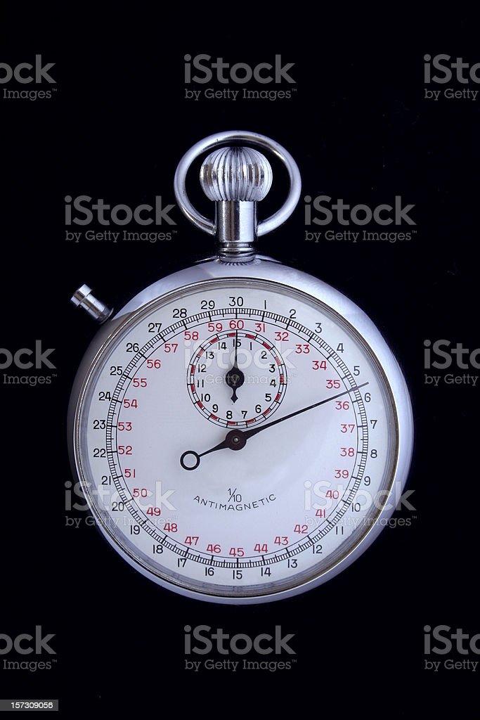 Stopwatch on Black royalty-free stock photo