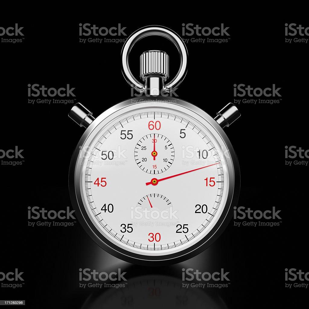 Stopwatch on Black XL+ royalty-free stock photo