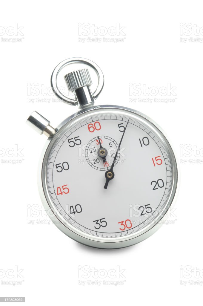 Stopwatch on White royalty-free stock photo