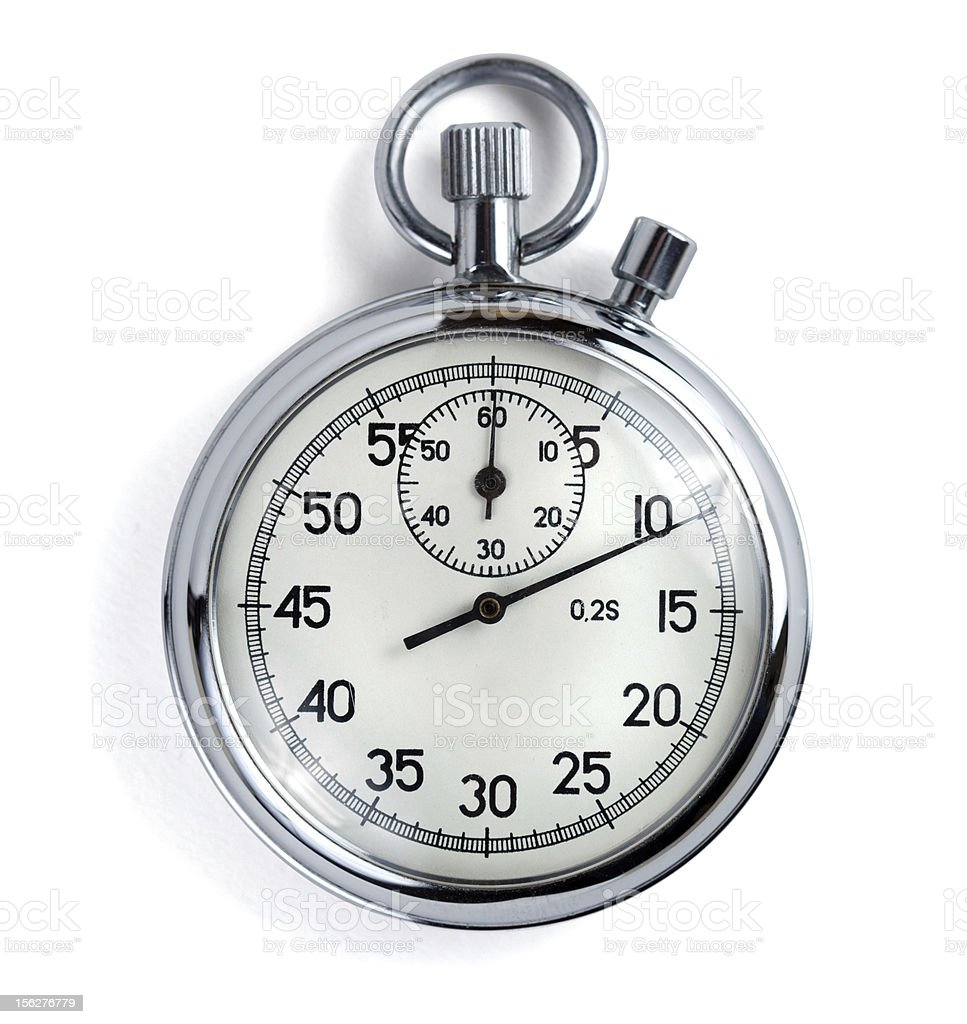 Stopwatch on white with clipping path royalty-free stock photo