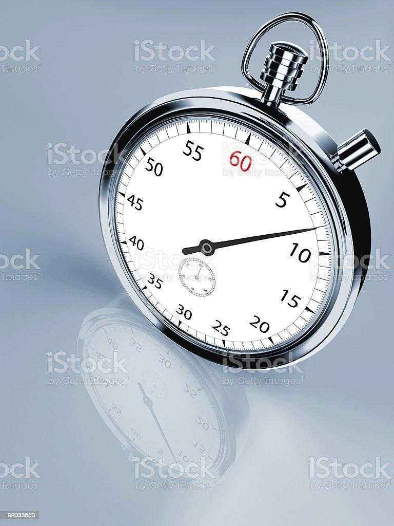 stopwatch render royalty-free stock photo