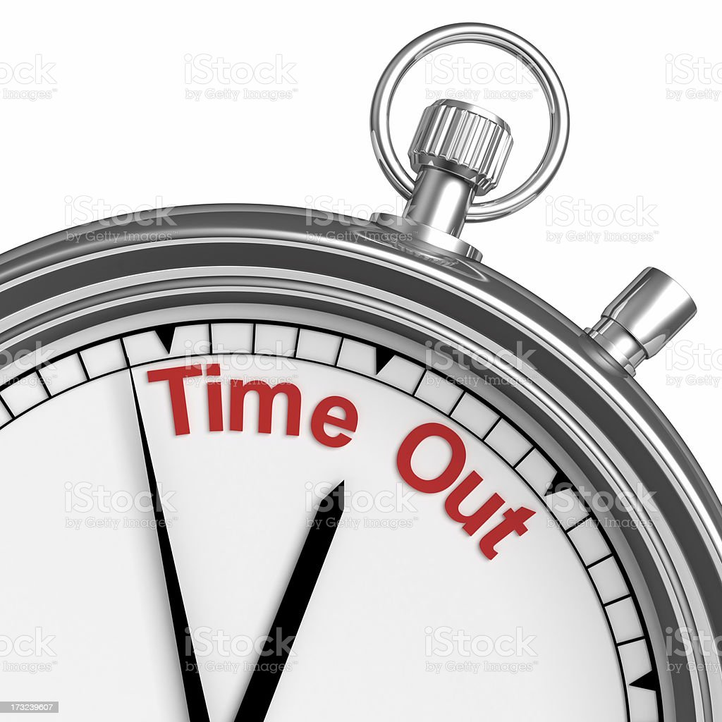 Stopwatch representing time out stock photo