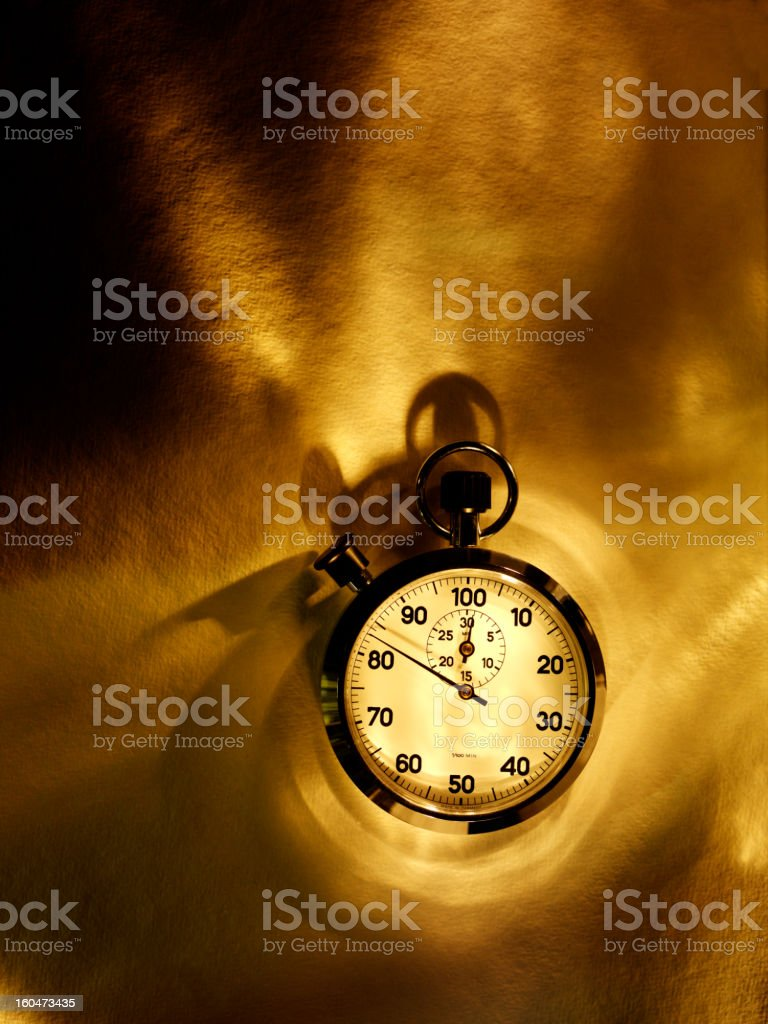 Stopwatch with a Sense of Speed royalty-free stock photo