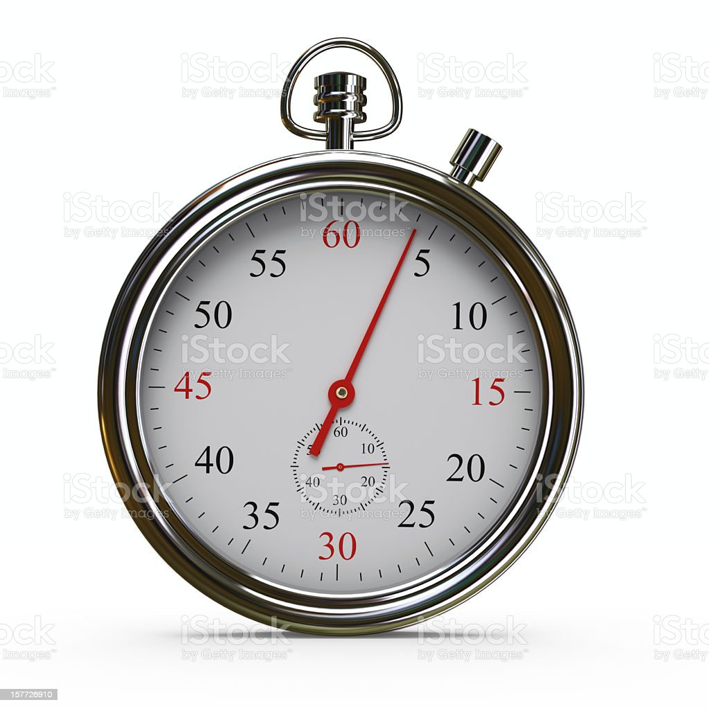 Stopwatch with Clipping Path royalty-free stock photo