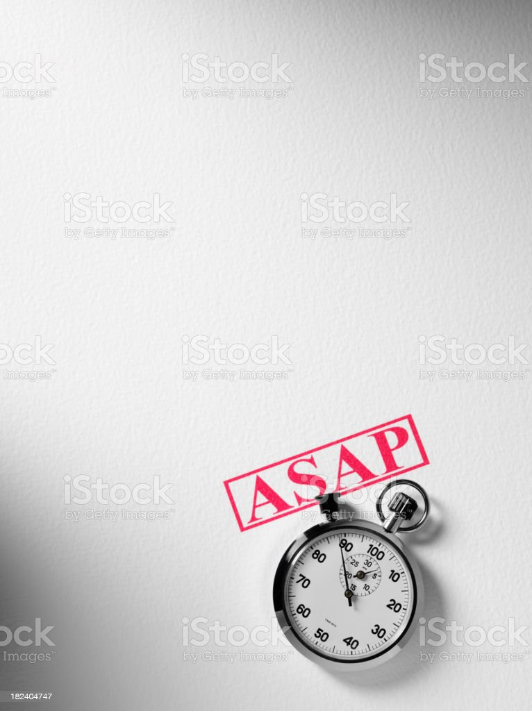Stopwatch with Copy Space royalty-free stock photo