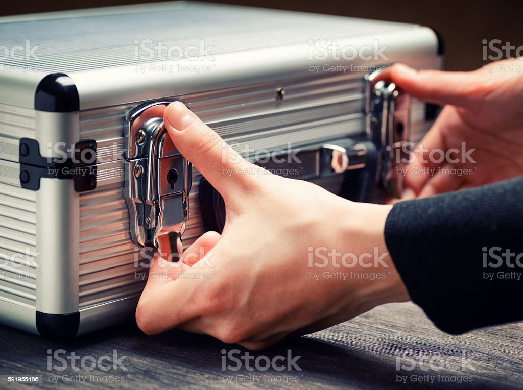 Storage and protection of cash and valuable goods stock photo