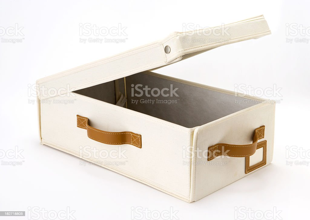 Storage box of canvas texture royalty-free stock photo