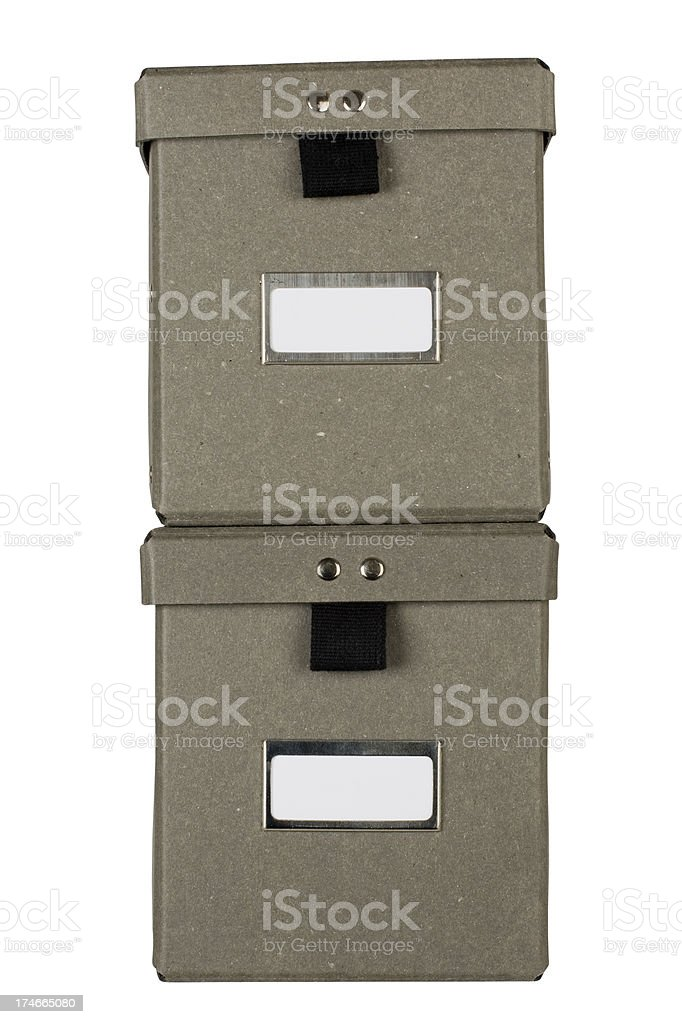 Storage boxes royalty-free stock photo