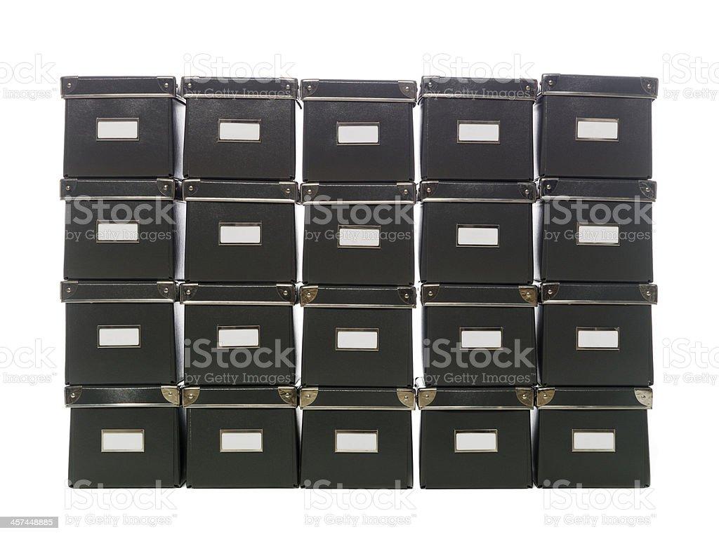 Storage boxes stock photo
