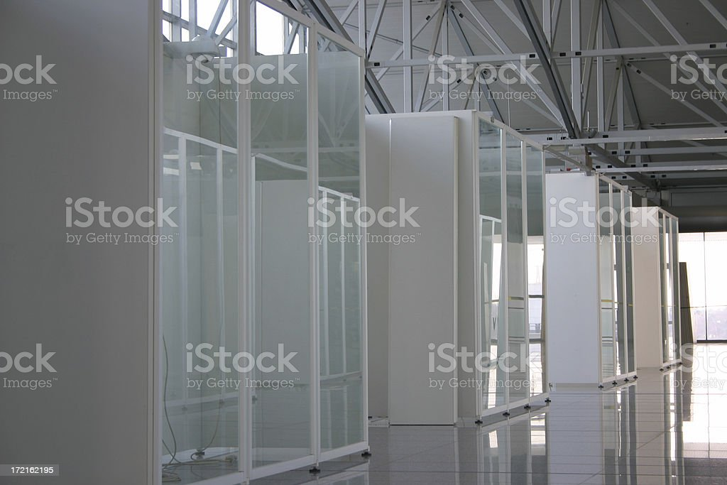 Storage cabins for communication technology royalty-free stock photo