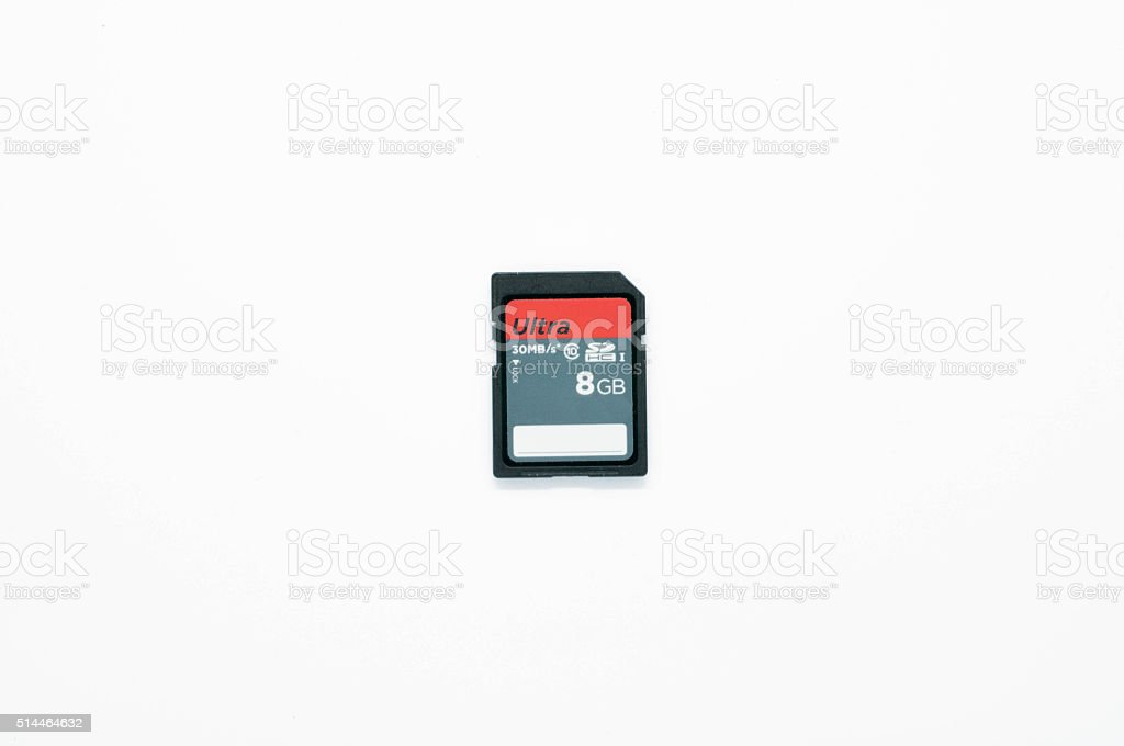 SD Storage Card stock photo