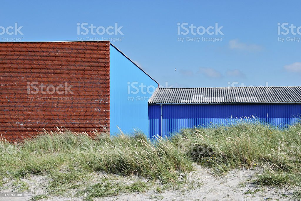 storage compartment at the beach stock photo