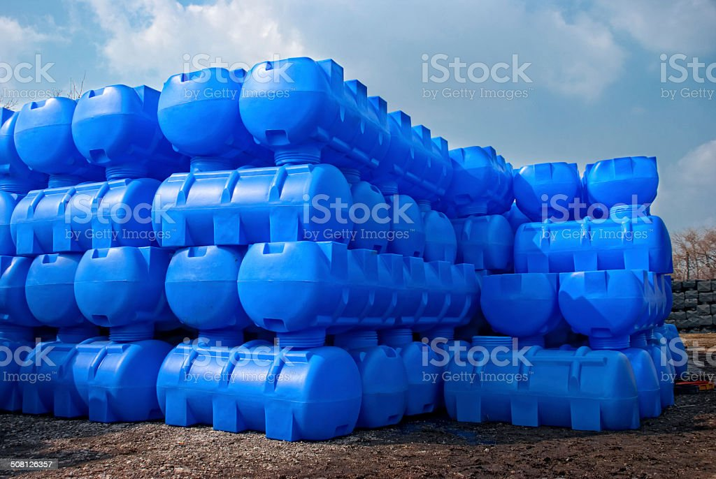 storage containers for liquids stock photo