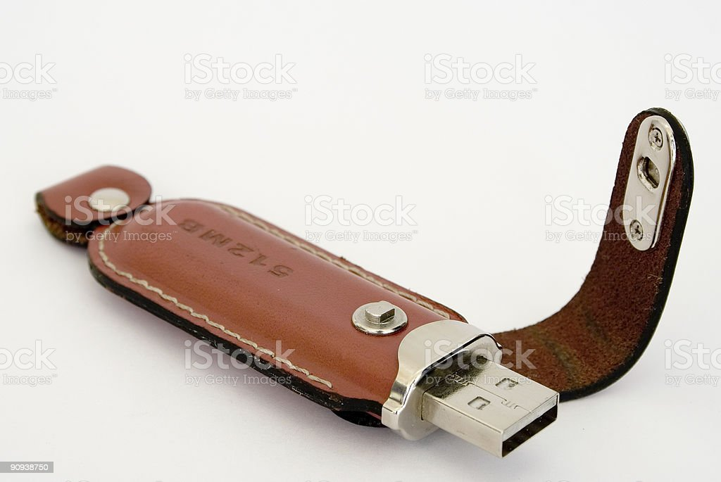 storage device with leather covering royalty-free stock photo