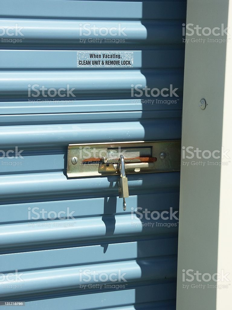 Storage Door Lock royalty-free stock photo