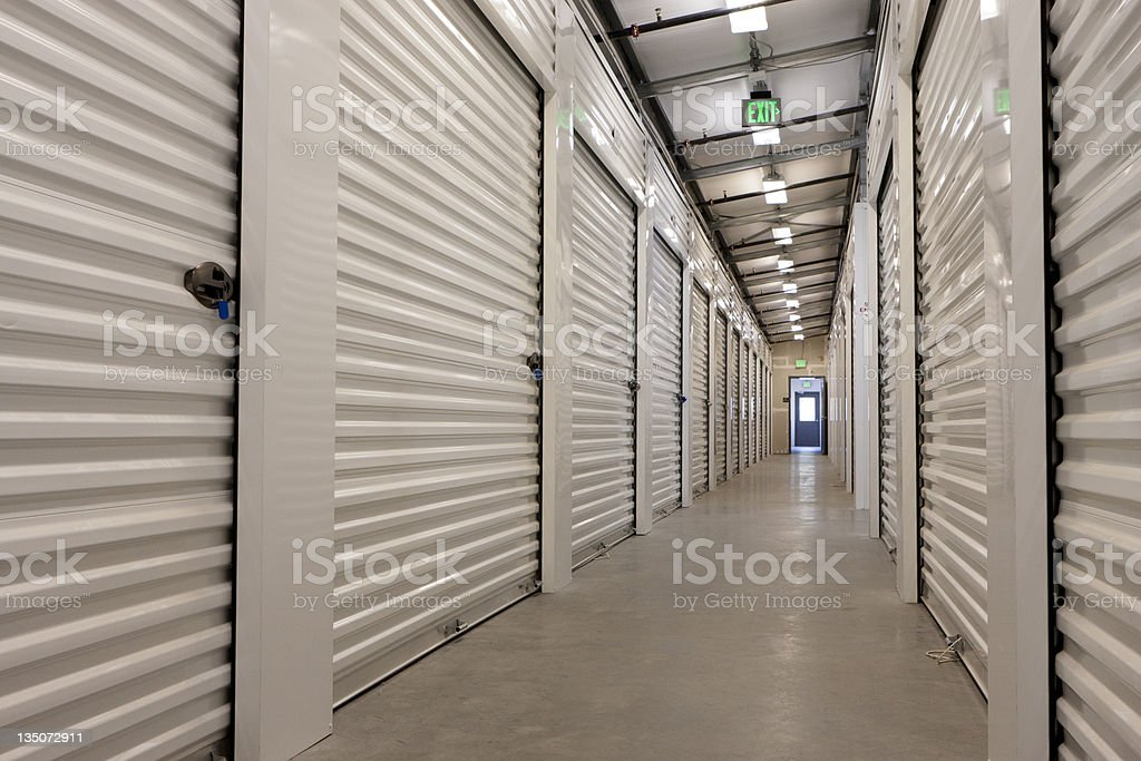 Storage Facility Hallway stock photo
