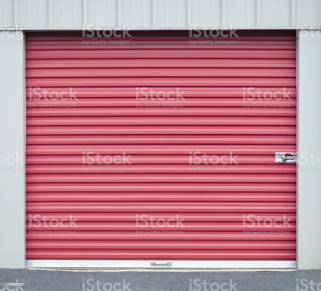 storage garage door stock photo