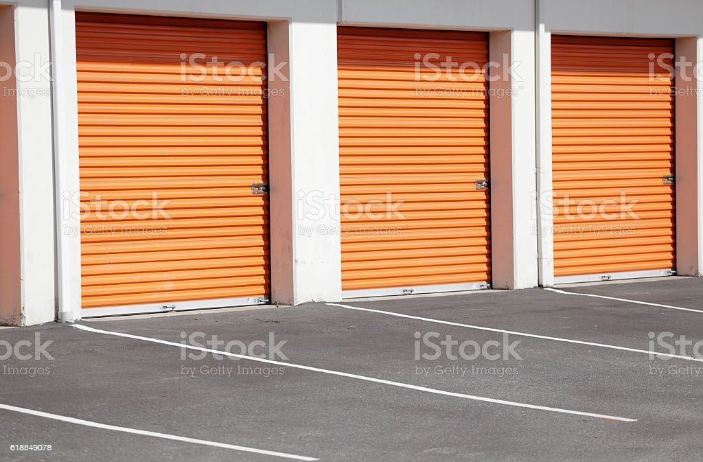 Storage garages self store facility stock photo