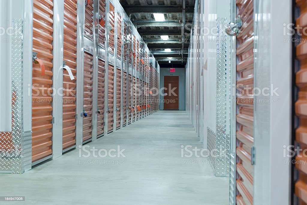 Storage Hall stock photo