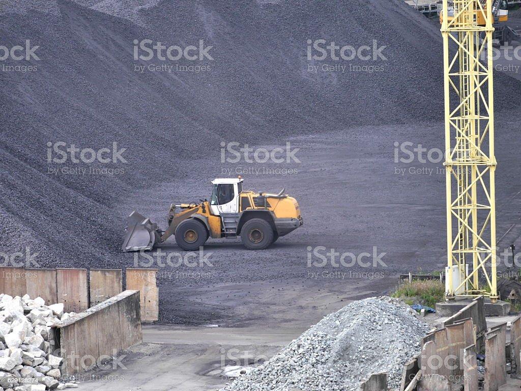 storage hard coal stock photo