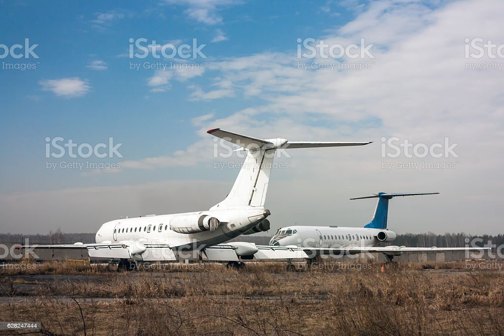 Storage old airplanes royalty-free stock photo