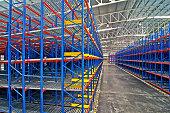 Storage pallet racking system for distribution