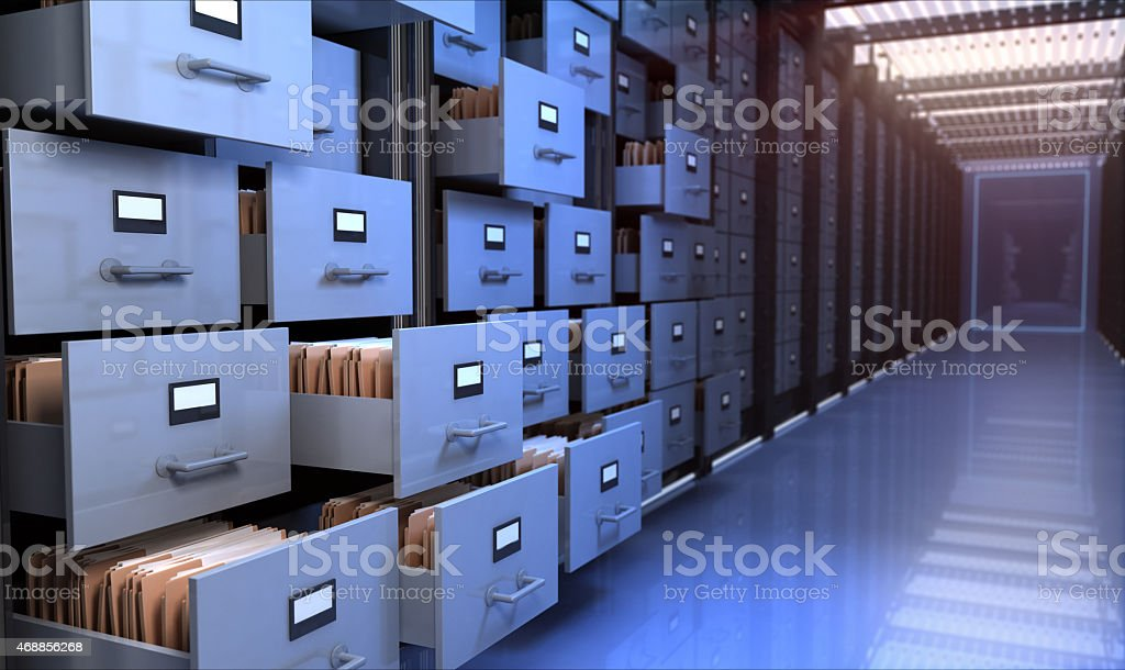 Storage room stock photo