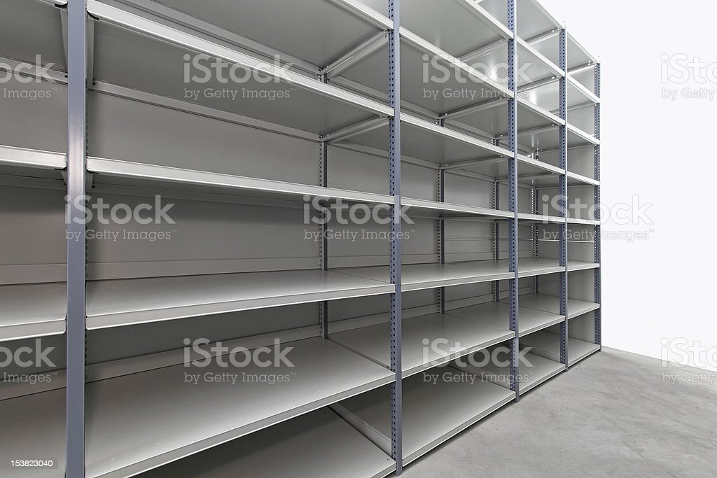 Storage room shelves royalty-free stock photo