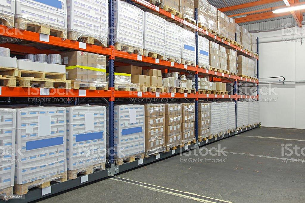 Storage Shelves stock photo
