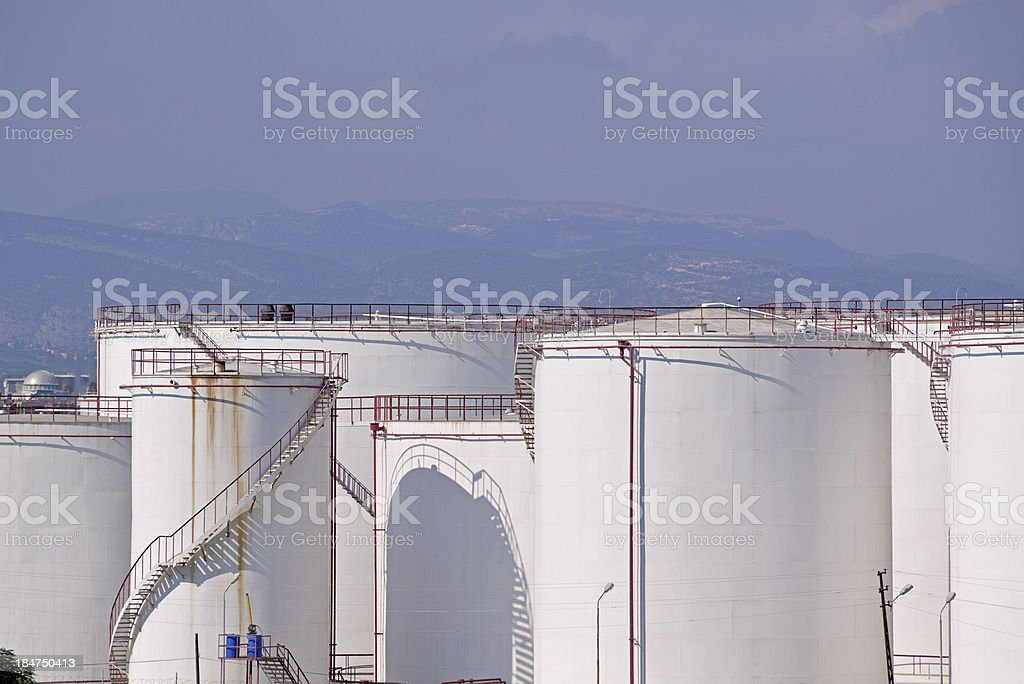 Storage tank stock photo