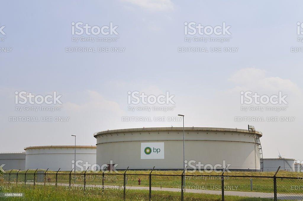 BP Storage tank stock photo