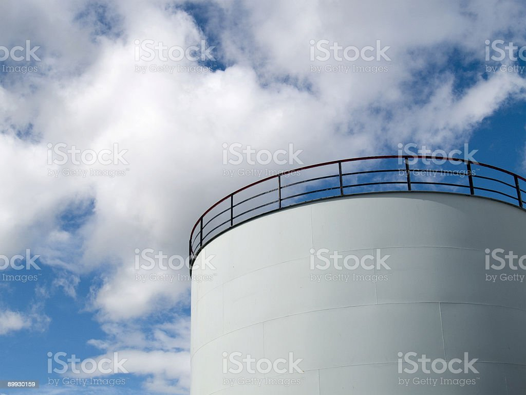 Storage tank royalty-free stock photo